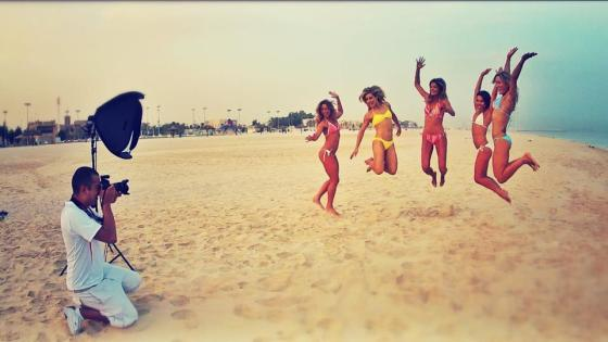 Photo shoot with some of the fittest chicks in Dubai!